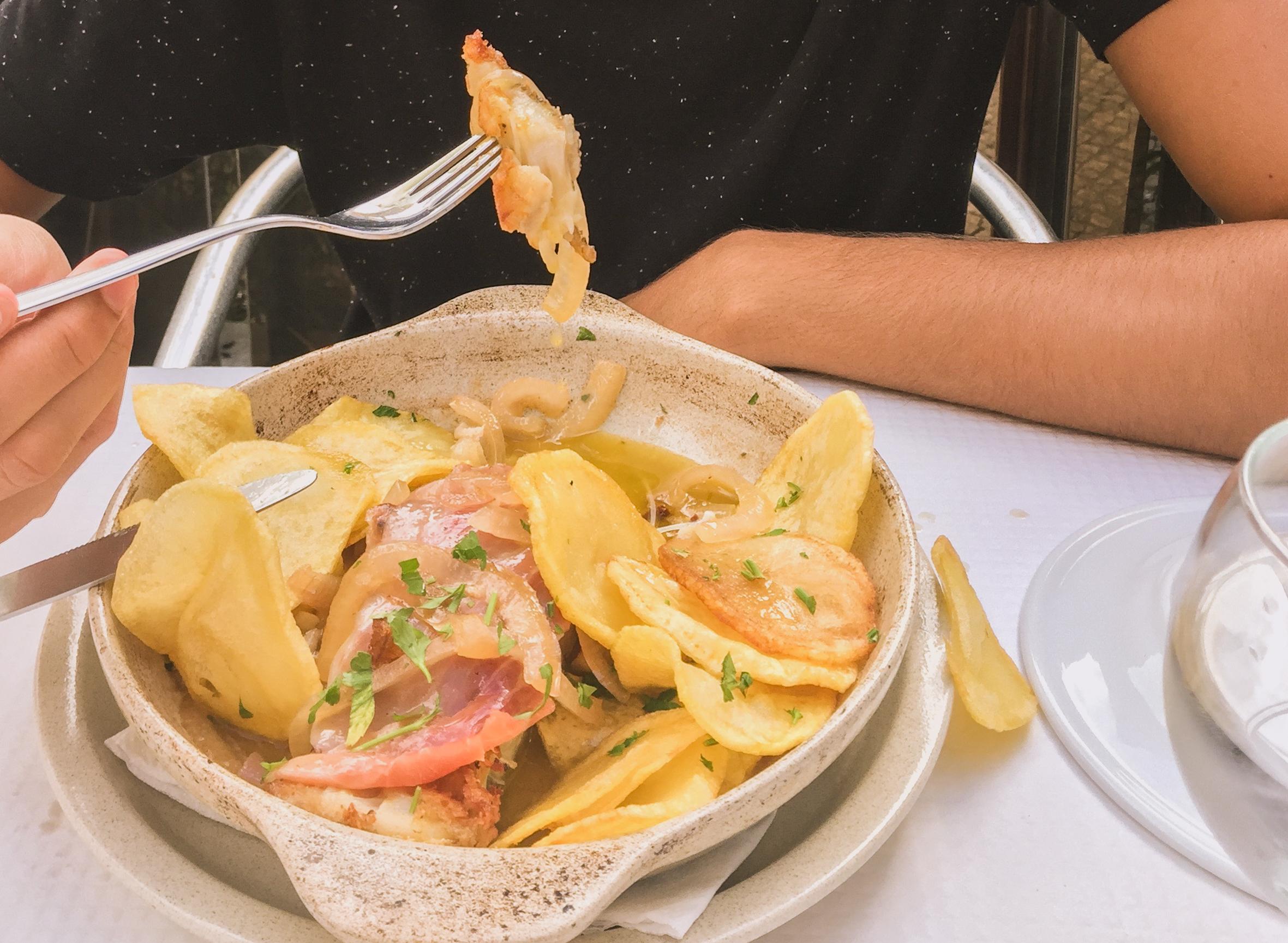 Baccalà portoghese con patate