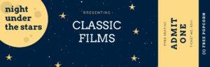 Biglietto cinema, film classici