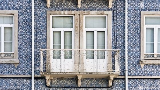 Palazzo di Lisbona con Azulejos