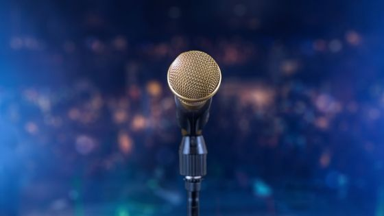 microfono in evidenza