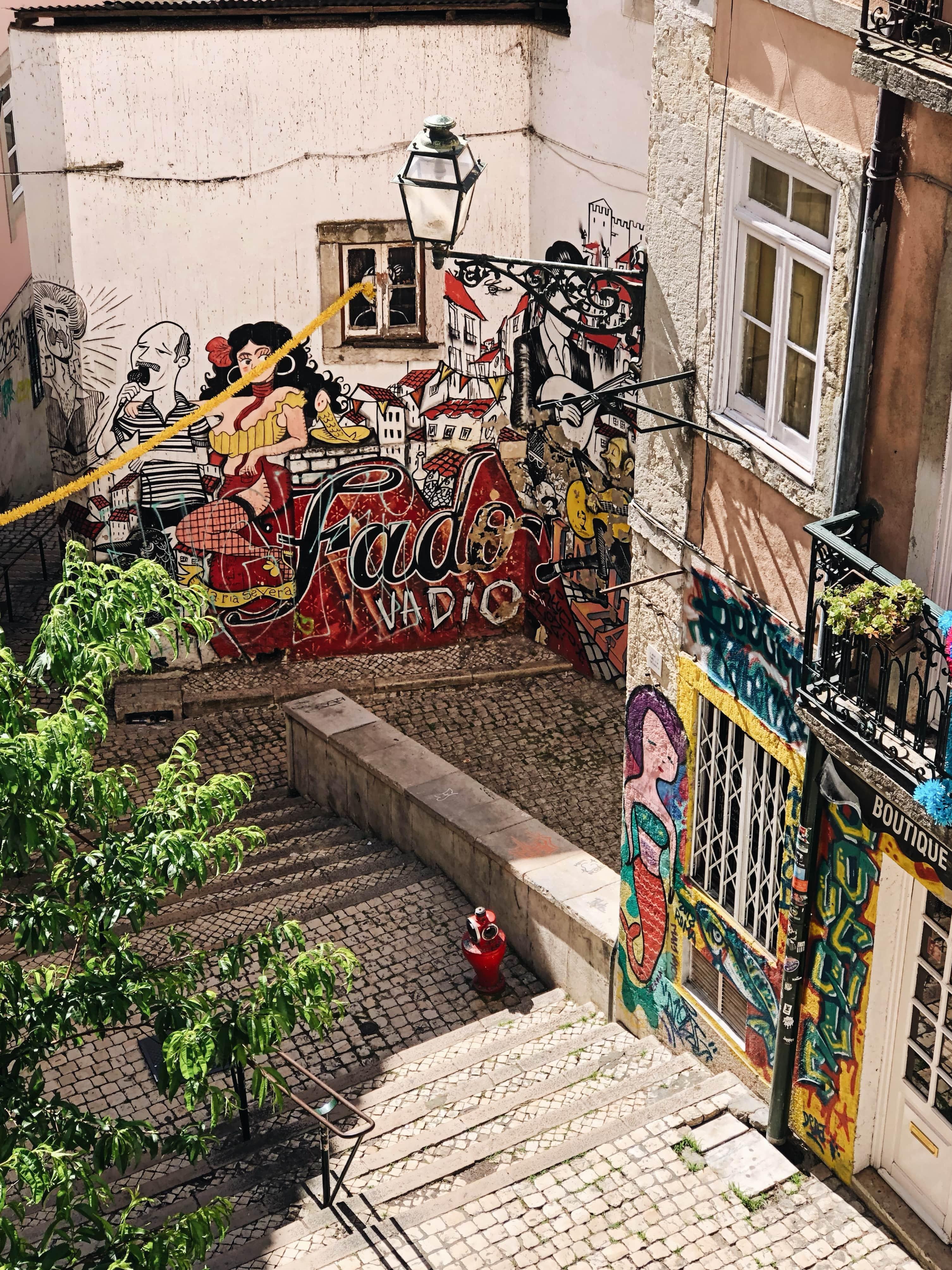 Murales del fado a Lisbona